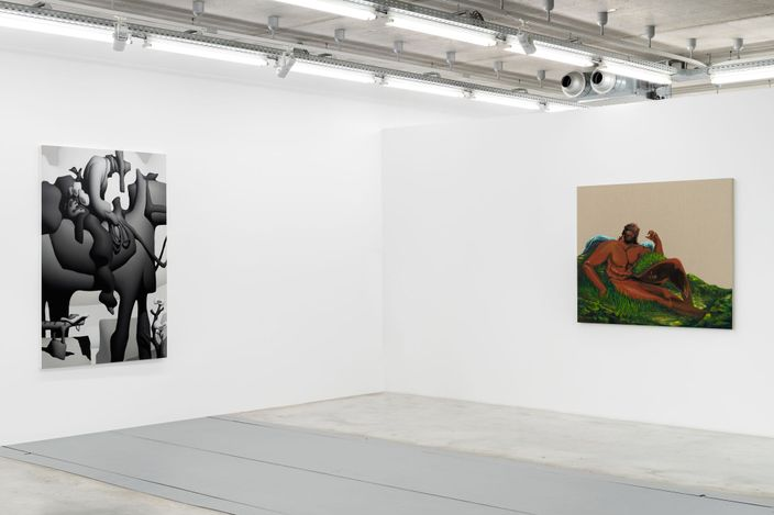 Exhibition view: Group Exhibition, Resting Point of Accommodation Organized with Bill Powers, Almine Rech, Brussels (21 April–28 May 2021). Courtesy Almine Rech.