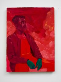 Untitled (Ife In Red) by Dominic Chambers contemporary artwork painting