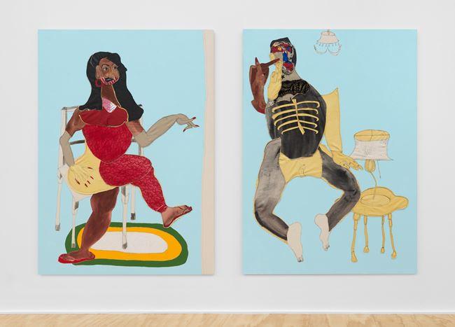 Spat by Tschabalala Self contemporary artwork