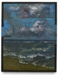 Planta Mar by Guillermo Kuitca contemporary artwork painting