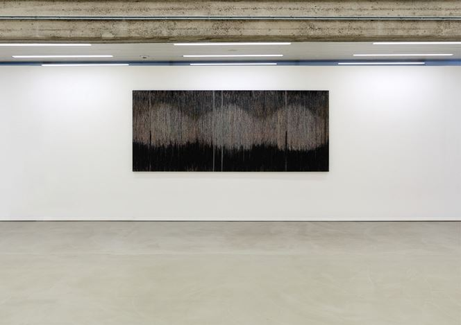 Exhibition view: Group exhibition, A Day's Work selected by British artist Susan Morris, Raum Schroth in the Museum Wilhelm Morgner, Soest (27 January–13 April 2019). © The artists. Courtesy Bartha Contemporary Ltd, Sprüth Magers, and Galerie Nordenhake.