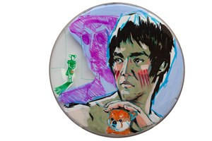 Bruce Lee and My Shiba Inu by Feng Mengbo contemporary artwork