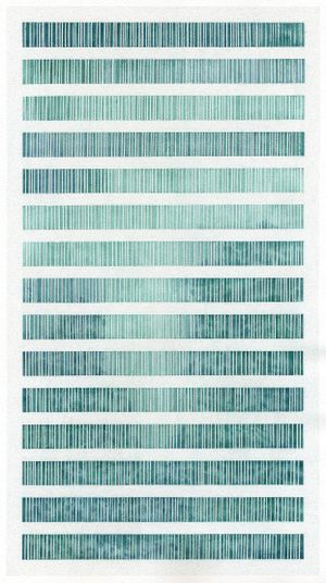 Barcode by Carmen Ng contemporary artwork painting, works on paper, drawing