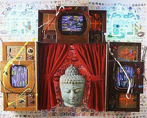 Homeless Buddha by Nam June Paik contemporary artwork sculpture, mixed media
