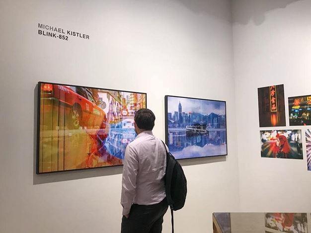 Exhibition view: Michael Kistler,BLINK-852, Blue Lotus Gallery, Hong Kong (12–29 November 2020). Courtesy Blue Lotus Gallery.