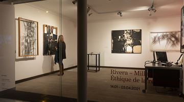 Contemporary art exhibition, Manolo Millares, Manuel Rivera, Rivera-Millares: Ethics of Reparation at Galeria Mayoral, Paris