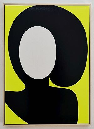 Ohne Titel (Iris) by Albrecht Schnider contemporary artwork