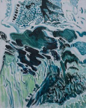 清凉山6号   Cool Mountain No.6 by Ji Lei contemporary artwork