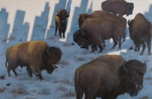 Bison, Untitled by Zhang Hongtu contemporary artwork