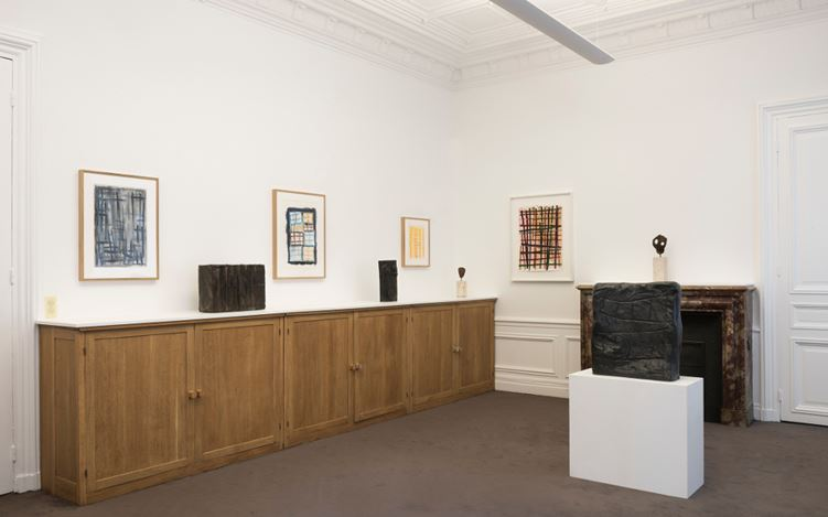 Exhibition view: Günther Förg, Bronzes and works on paper, Galerie Lelong & Co, Paris (6 September-7 October 2017). Courtesy Galerie Lelong & Co, Paris.