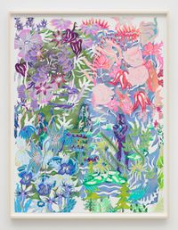 Petals from blown roses by Sarah Ann Weber contemporary artwork works on paper, drawing