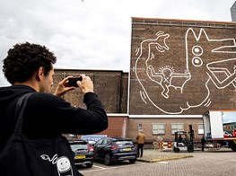 A Monumental Keith Haring Mural in Amsterdam, Hidden for 3 Decades, Finally Sees Daylight