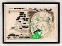 No Title (Talking sets, Elvis!...) by Raymond Pettibon contemporary artwork painting, works on paper, drawing
