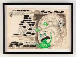 No Title (Talking sets, Elvis!...) by Raymond Pettibon contemporary artwork