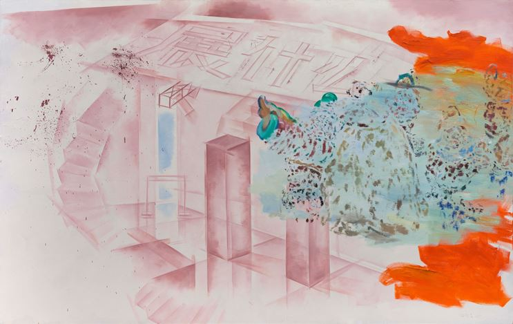 Xie Nanxing, What to Exhibit No. 1 (2017). Oil on canvas. 190 x 300 cm. Courtesy the artist and Galerie Urs Meile, Beijing-Lucerne.