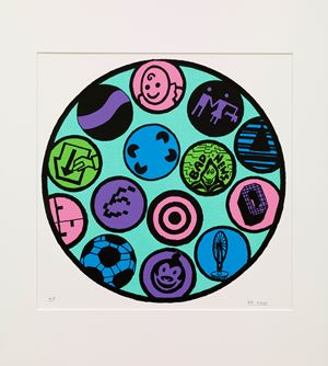 Circles by Derek Boshier contemporary artwork