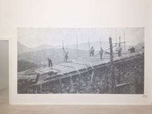Workers on the Roof by Luca Frei contemporary artwork
