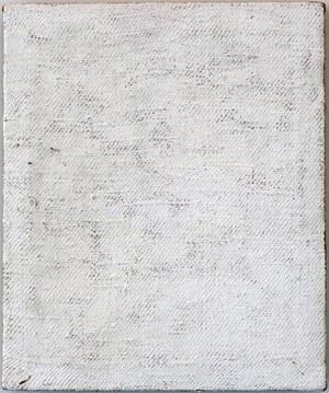 Untitled - White monochrome by John Nixon contemporary artwork painting