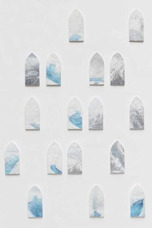 'Skyscape' and 'Moulin' series, 24 individual wall pieces by Sarah Tomasetti contemporary artwork