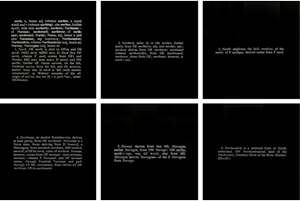 Titled (Art as Idea as Idea) [Present, Four Etymological Parts], 1968 by Joseph Kosuth contemporary artwork