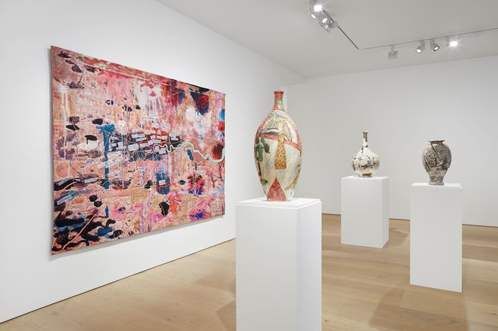 Exhibition view: Grayson Perry, Super Rich Interior Decoration, Victoria Miro Gallery, Mayfair, London (25 September–20 December 2019). Courtesy the artist and Victoria Miro, London/Venice.