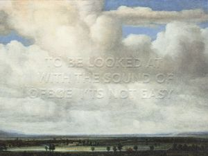 to be looked at with the sound of ofege it ́s not easy by Maria Loboda contemporary artwork