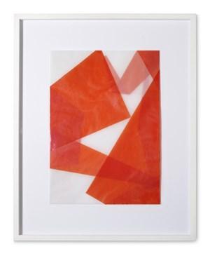 Faltungen Rot by Beat Zoderer contemporary artwork