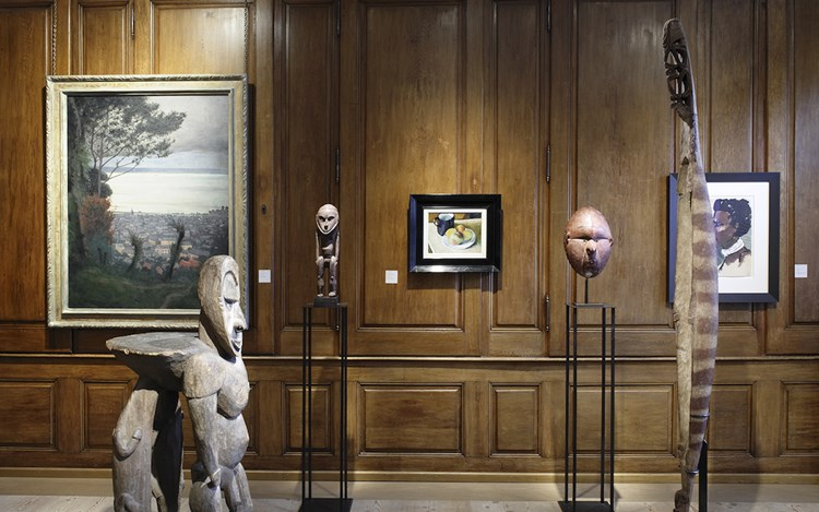 Exhibition view: Group Exhibition, Modern & tribal masters, Beck & Eggeling Internation Fine Arts at Berney Fine Arts GmbH, Basel (10–16 June 2019). Courtesy Beck & Eggeling International Fine Art.