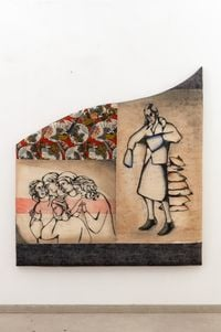 Giotto whispers by Anju Dodiya contemporary artwork painting, works on paper, sculpture, drawing