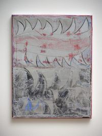 Silver Tongue by Anoushka Akel contemporary artwork painting, works on paper