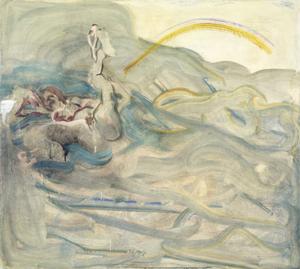 Woge 2 by Siegfried Anzinger contemporary artwork