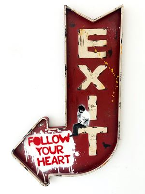 Follow your Heart by Van Ray contemporary artwork