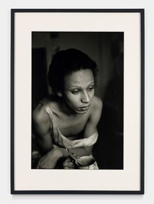 Roommate with teacup, Boston by Nan Goldin contemporary artwork