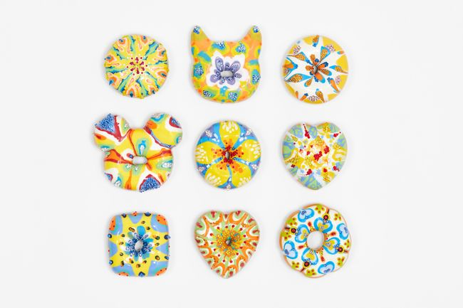 Yellow Floral Donuts by Jae Yong Kim contemporary artwork