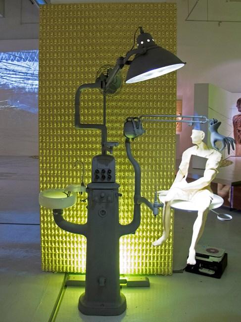 Opera - Anterior Man: Dental Ensemble and Lamp by Gabriel Barredo contemporary artwork