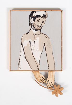 Holding Flowers by Brett Charles Seiler contemporary artwork