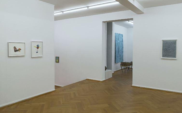 Exhibition view: Myriam Holme, Cigdem Aky, Henrik Eiben, Sophie Bouvier Ausländer, Bernhard Knaus Fine Art, Frankfurt (6 November 2020–30 January 2021). CourtesyBernhard Knaus Fine Art.