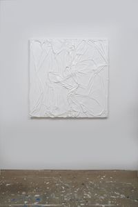 Untitled (White on White#9) by Huseyin Sami contemporary artwork painting