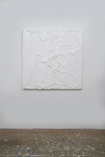 Untitled (White on White#9) by Huseyin Sami contemporary artwork