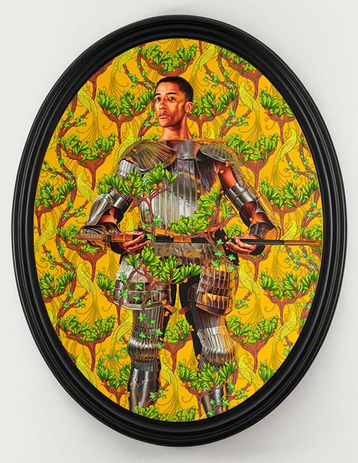 Portrait of Harper Watters by Kehinde Wiley contemporary artwork