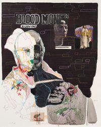 Untitled XX (Blood Money: Season One) by Kudzanai Chiurai contemporary artwork works on paper, mixed media