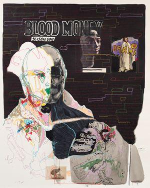 Untitled XX (Blood Money: Season One) by Kudzanai Chiurai contemporary artwork