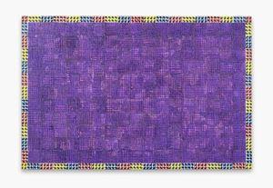 Modern:Ancient:Brown(violet) by McArthur Binion contemporary artwork