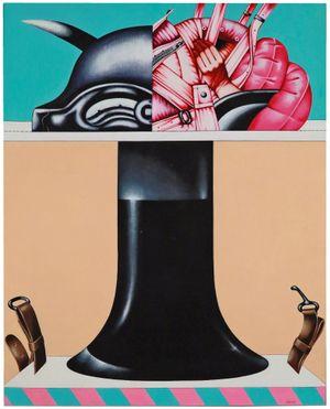Tavolo imbottito by Sergio Sarri contemporary artwork painting