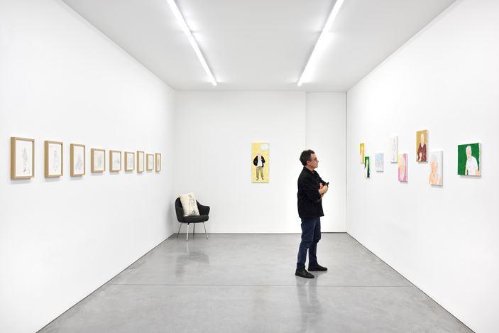 Exhibition view: Mieko Meguro,Manga Dan, Sharaku Moments, Galerie Marian Goodman, Paris (7 November 2019–18 January 2020). Courtesy Galerie Marian Goodman.