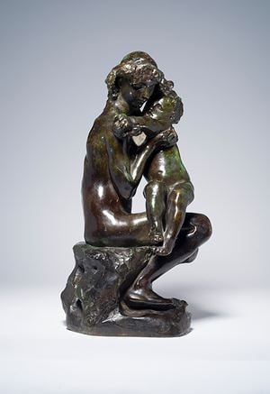 Frère et soeur by Auguste Rodin contemporary artwork