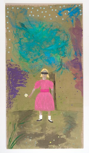 Girl in a blindfold by Jenny Watson contemporary artwork