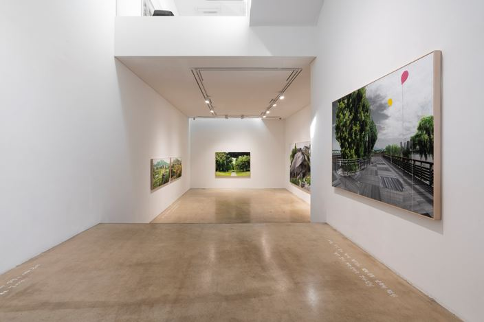 Exhibition view: Honggoo Kang, Study of Green-Seoul-Vacant Lot,ONE AND J. Gallery, Seoul (May 1–31, 2020). Courtesy ONE AND J. Gallery.
