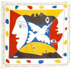 Foulard pour le Festival Mondial de la Jeunesse et des Etudiants pour la Paix [Berlin] by Pablo Picasso contemporary artwork
