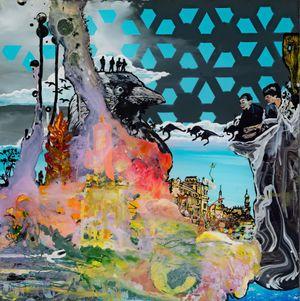 Rabenschwarz by Wolf Hamm contemporary artwork